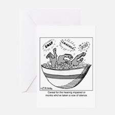 Cereal for the Deaf Greeting Card