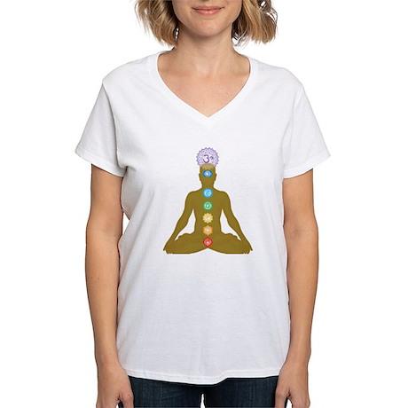 Chakra's in ascending order Women's V-Neck T-Shirt