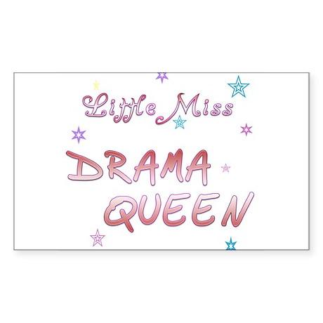 Little Drama Queen Rectangle Sticker