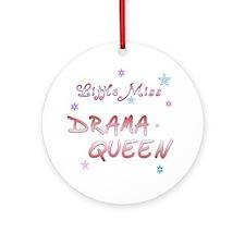 Little Drama Queen Ornament (Round)