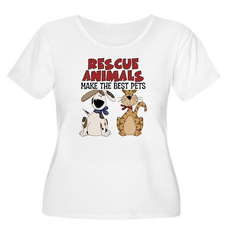 Rescue Animals Women's Plus Size Scoop Neck T-Shir