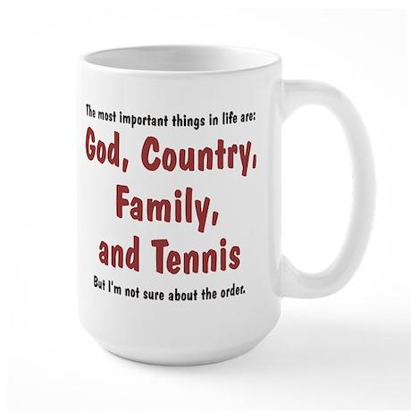 Tennis Priority - Large Mug