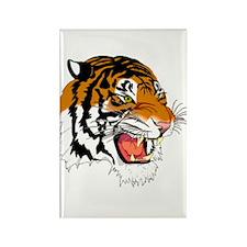 Grumpy Tiger Rectangle Magnet (10 pack)