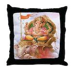 Ganesh on Elephant Throw Pillow