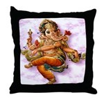 Ganesh Dancing Throw Pillow