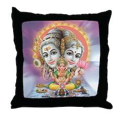 Ganesh Shiva Throw Pillow
