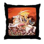 Jhansi Rebel Queen Throw Pillow
