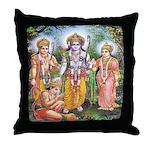 Rama, Sita, Lakshmana and Hanuman Throw Pillow