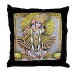 Krishna Gold Throw Pillow