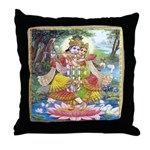 Radha and Krishna Dancing Throw Pillow