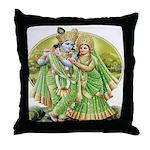 Radha and Krishna in GreenThrow Pillow
