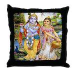 Radha and Krishna Throw Pillow