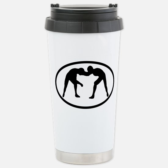 Wrestling Stainless Steel Travel Mug