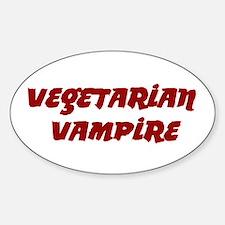 Twilight ~ Vegetarian Vampire Oval Decal