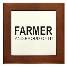 The Proud Farmer Framed Tile