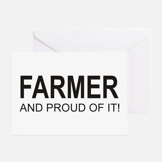 The Proud Farmer Greeting Card
