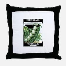 Pole Beans Throw Pillow