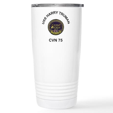 USS Truman CVN 75 Stainless Steel Travel Mug