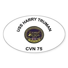 USS Truman CVN 75 Oval Decal