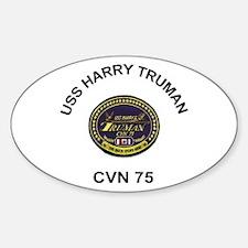 USS Truman CVN 75 Oval Decal
