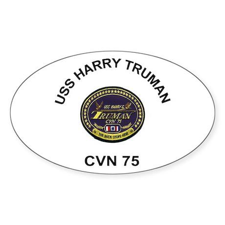 USS Truman CVN 75 Oval Sticker