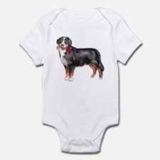 christmas bernese mountain do Infant Bodysuit