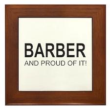 The Proud Barber Framed Tile