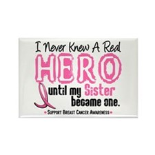 Never Knew A Hero 4 PINK (Sister) Rectangle Magnet