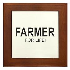 Farmer For Life Framed Tile
