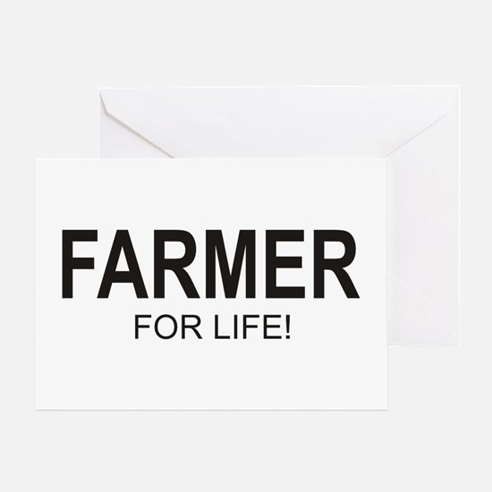 Farmer For Life Greeting Card