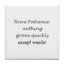 Cute Weeds Tile Coaster