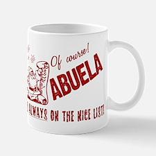 Nice List Abuela Mug