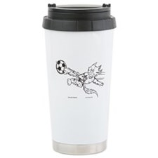 Soccer cat Travel Mug