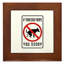dog poop scoop Framed Tile