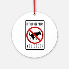 dog poop scoop Ornament (Round)