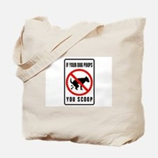 dog poop scoop Tote Bag