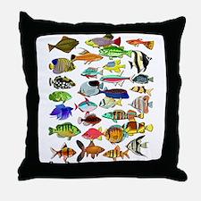 Funny Fish Throw Pillow