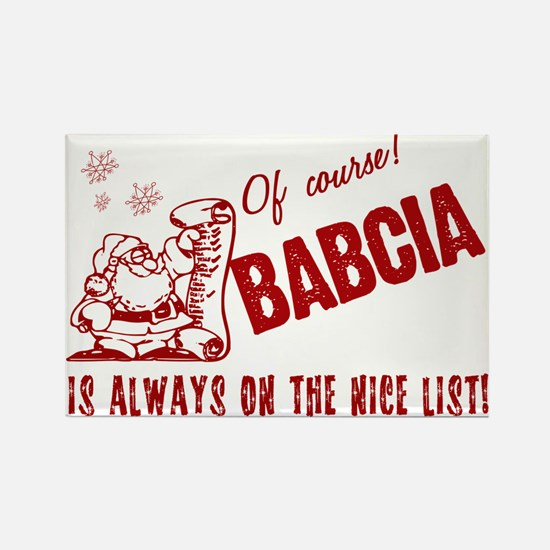 Nice List Babcia Rectangle Magnet