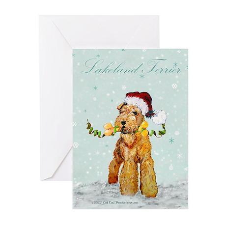 Lakeland Holiday Santa Greeting Cards (Pk of 10)