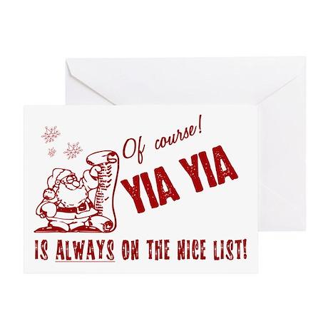 Nice List Yia Yia Greeting Card