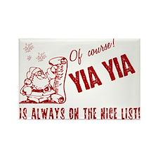 Nice List Yia Yia Rectangle Magnet