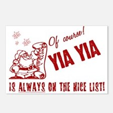 Nice List Yia Yia Postcards (Package of 8)