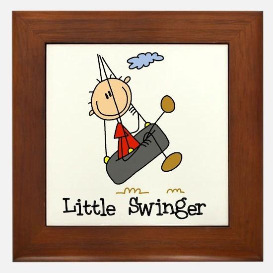 Little Swinger (boy) Framed Tile
