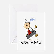 Little Swinger (boy) Greeting Card