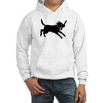 Playful Black Lab Hooded Sweatshirt