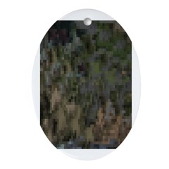 Custom Digital Camoflauge Oval Ornament
