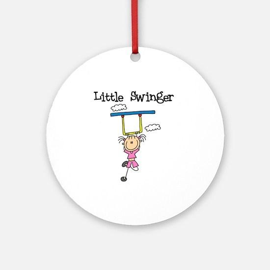 Little Swinger (girl) Ornament (Round)