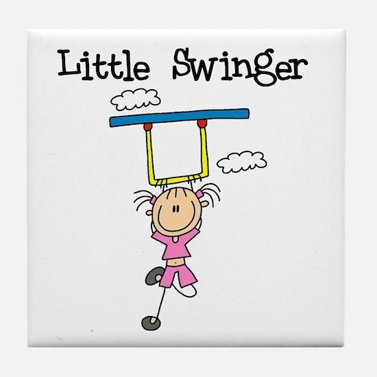 Little Swinger (girl) Tile Coaster