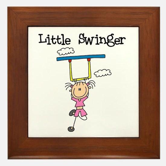 Little Swinger (girl) Framed Tile