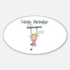 Little Swinger (girl) Oval Decal
